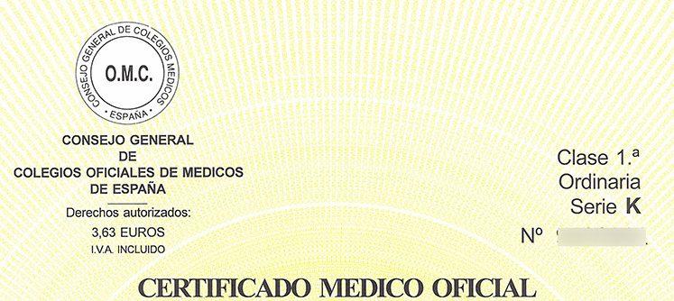 9e2092b2b El CACM sobre el formulario de certificado médico elaborado por correos -  Andalucía Médica